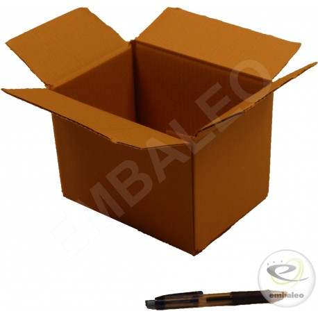 Single wall cardboard box 20 x 14 x 14 cm
