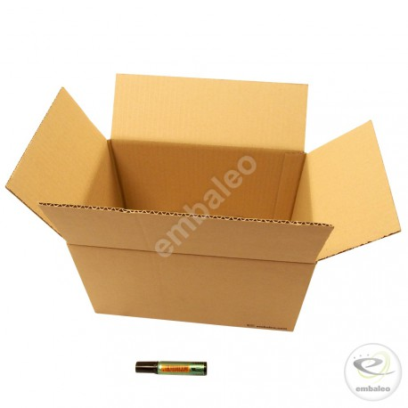 Single wall cardboard box 30 x 20 x 17 cm