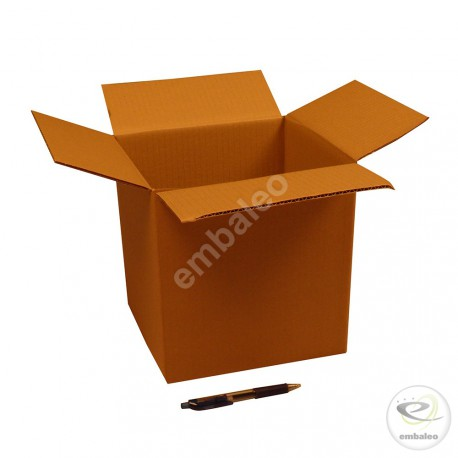 Single wall cardboard box 23 x 21 x 24 cm