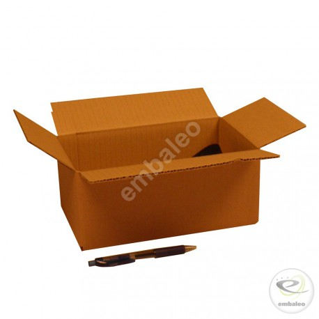 Single wall cardboard box 25 x 15 x 10 cm
