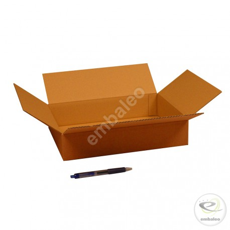 Single wall cardboard box 31 x 21,5 x 6 cm