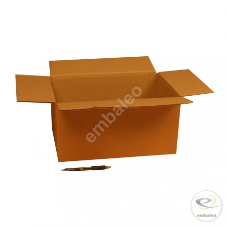 Single wall cardboard box 36 x 22 x 18 cm