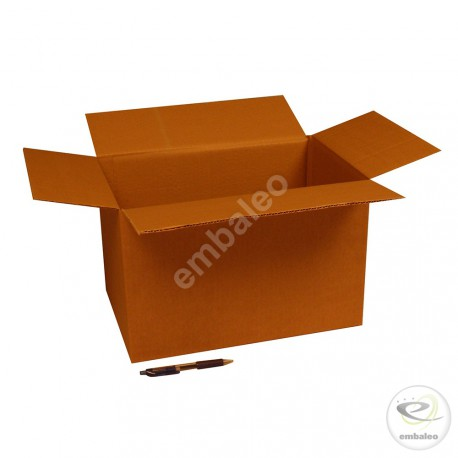 Single wall cardboard box 38 x 25 x 24 cm