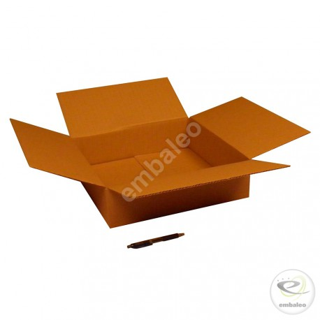 Single wall cardboard box 40 x 40 x 10 cm
