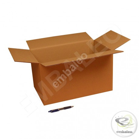 Single wall cardboard box 43 x 25 x 25 cm