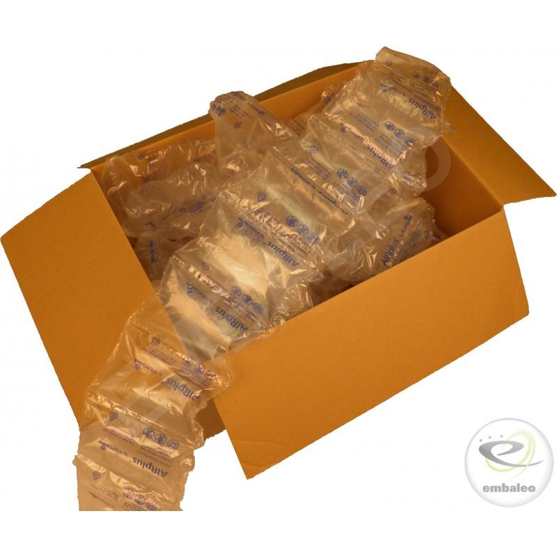 cardboard box and air cushions