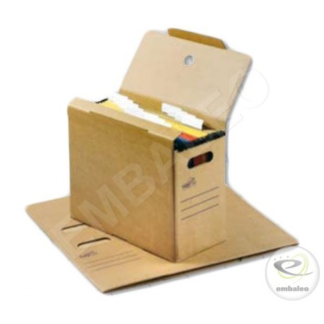 Tough cardboard archive box for A4 suspension files box 32,5 x 16 x 27,7 cm