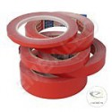 Red PVC adhesive tape 19 cm wide 66 m long