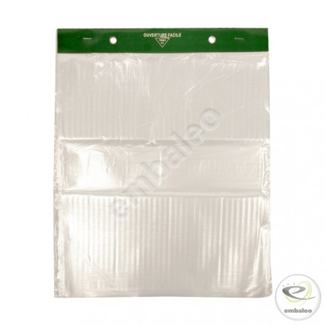 Clear wicketed bags - large size 30 x 35 cm