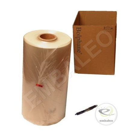 Folded polyolefin shrink film 15µ 500x2 1332 m long