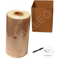 Folded polyolefin shrink film 15µ 600x2 1332 m long