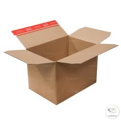 Adjustable cardboard box 30,4 x 21,6 cm with adhesive strip
