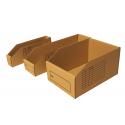 Cardboard storage bins